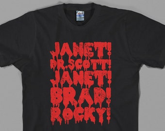 Rocky Horror Shirt, picture show, janet, brad, dr. scott,  frank n furter, horror, musical, movie, cult film - Graphic Tee, All Sizes/Colors