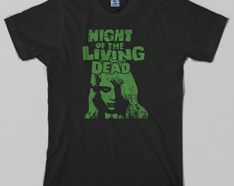 b517afda Night of the Living Dead T Shirt - george romero, zombie, dawn, day,  horror, cult - Graphic Tee, All Sizes & Colors