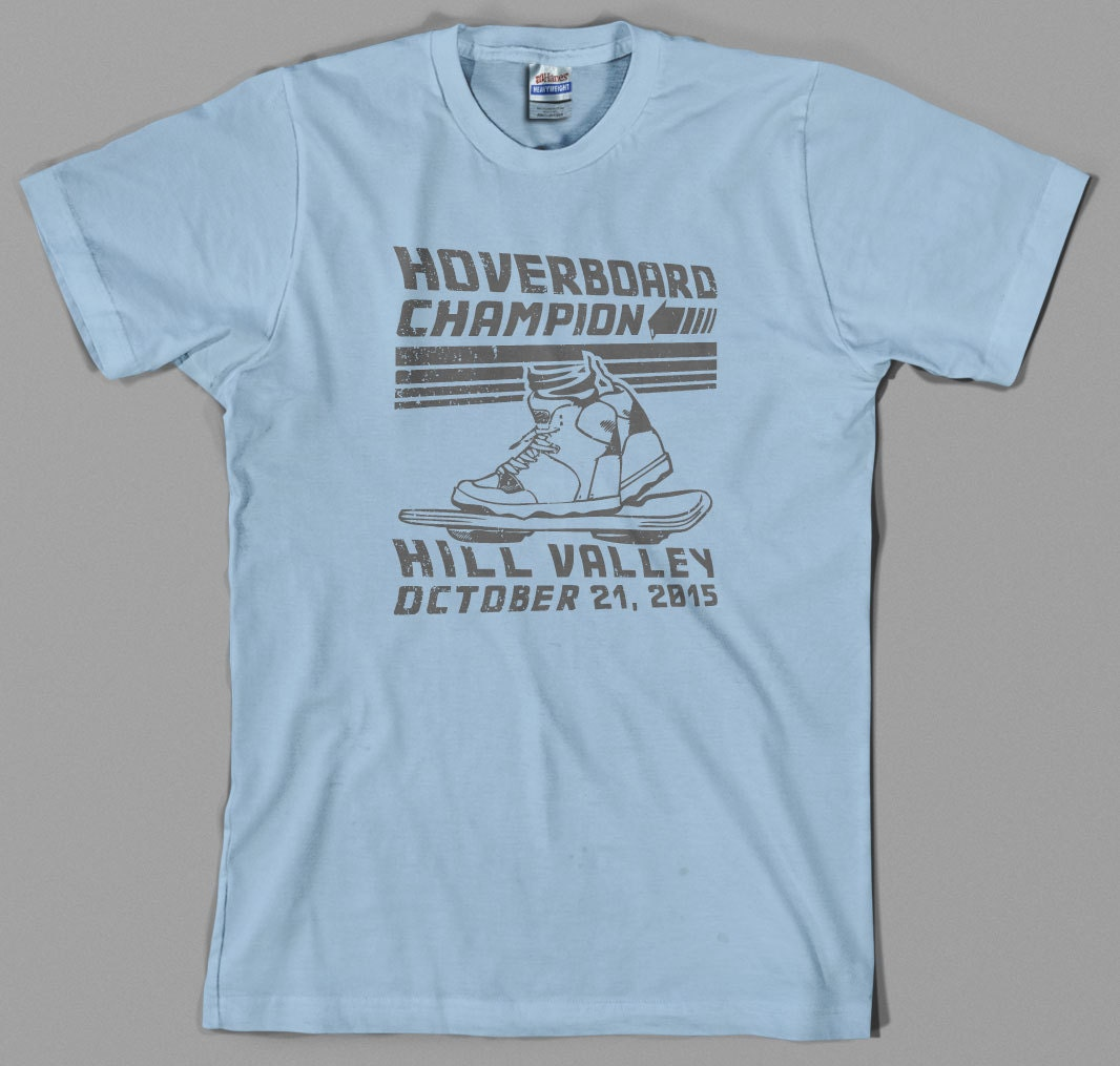 Hill Valley Hover Board Champion T-shirt, choice of colours