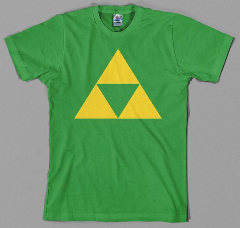 89fcd3a67 Triforce T Shirt legend of zelda link nintendo ocarina | Etsy