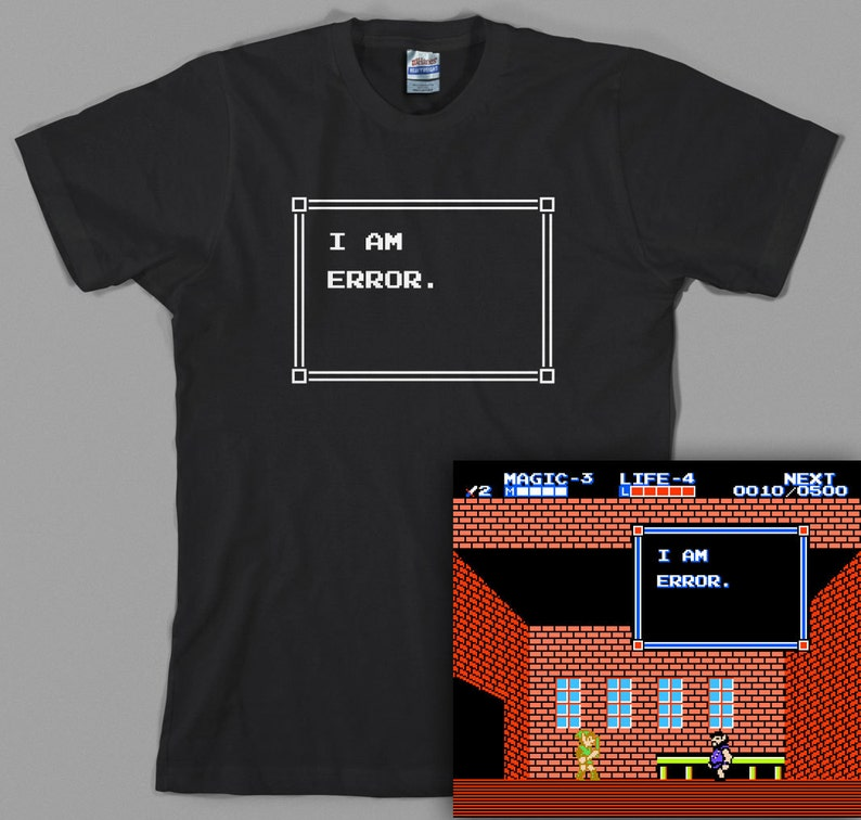 c495ad76f I am Error Zelda T Shirt legend of link 2 8 bit | Etsy