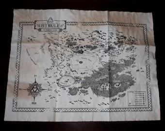"Zelda ""Kingdom of Hyrule Map"" - Ocarina of Time"