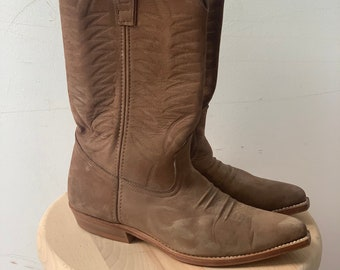 Vintage Western Cowgirl Boots in Suede US 37.5 US 6.5 UK 4.5