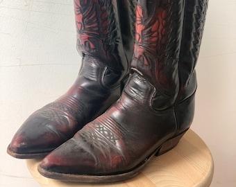 Vintage Western Leather Boots US 11.5 EU 42.5 UK 9.5