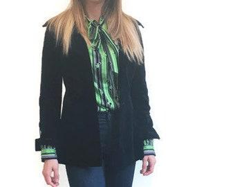 Belted velvet jacket, 70s velvet Blazer, blue Velvet Belted Jacket, slim Cut Blazer, velvet Jacket, 70s Fashion, small velvet blazer