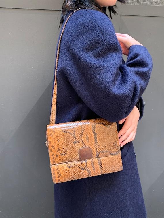 Snakeskin shoulder bag, Shoulder bag clutch, Exoti