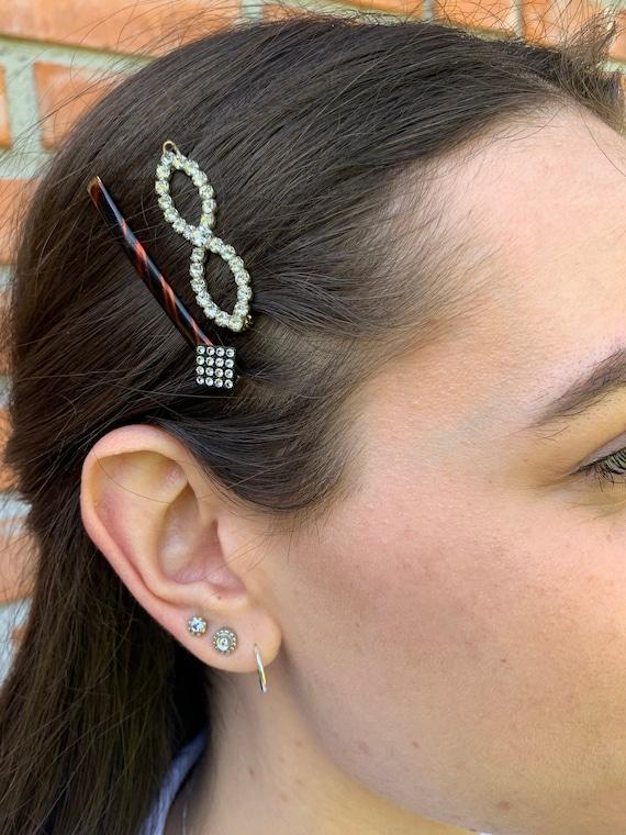 Vintage 80s Hair Barrette set, Hair Pins Vintage,