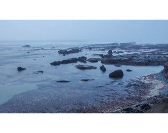 La Jolla Beach Mist - Ocean Sunries - Fine Art Photography - Wall Decor - Blue - Peace - Fantasy - Bliss - Beach Panoramic - Photo Print