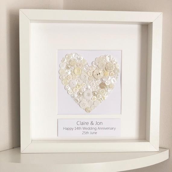 Ivory Wedding Anniversary Gift Personalised 14th Anniversary Etsy