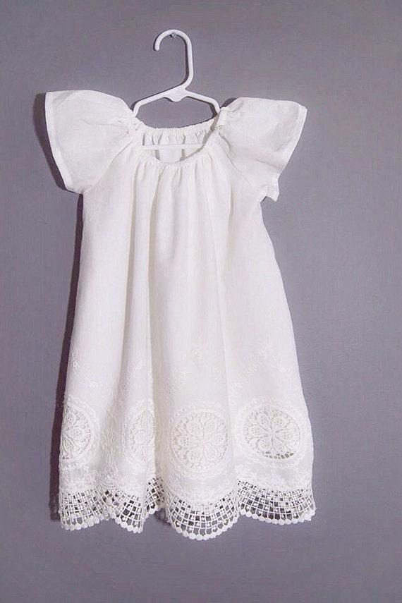 ce14f59fe Baby girl baptism dress Long christening dress naming ceremony | Etsy