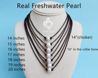 Pearl necklace etsy pearl chokerpearl necklaceadjustable pearl chokerpearl selectleather pearl necklacesingle pearl necklacefreshwater pearl necklace aloadofball Images