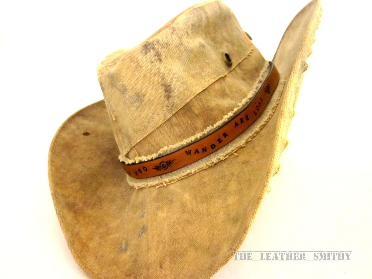 Custom Leather Hat Band Personalized Hat Band Leather Hat  99647e2a732