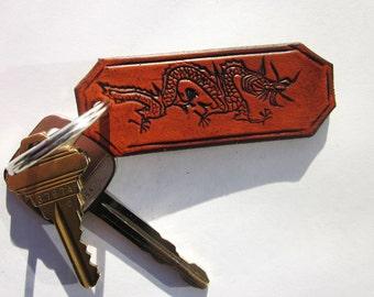 Leather Dragon Key Chain