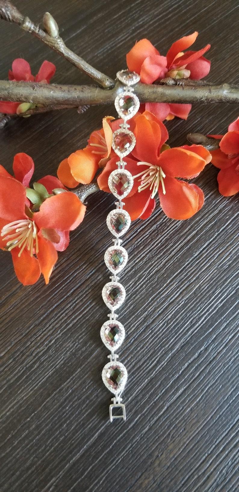 Gemstone Bracelet For Women Color Changing 925 Sterling image 0