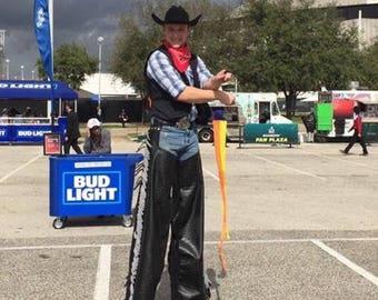 Cowboy Chaps Leather Stilt Pants