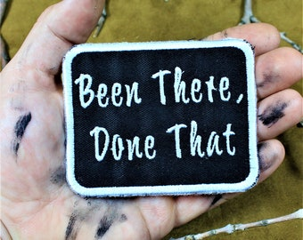 Been there, done that, sew on patch