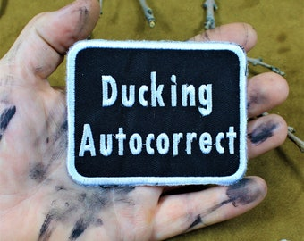 Ducking autocorrect, sew on patch