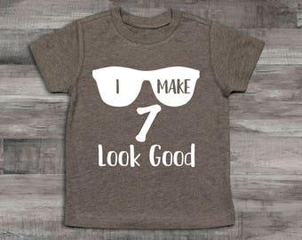 Boy Clothes Baby 7th Birthday Shirt I Make 7 Look Good 6th Year Old