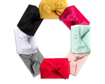 Hair Accessories Buy Cheap #6106 Red Pink White Headbands Ribbon Bow Knot Elastic Bandage On A Head Cute Girls Hair Bands