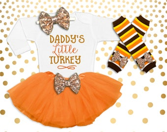 2783e9f94 Thanksgiving Outfit Baby Girl Baby Girl Thanksgiving Girl's Thanksgiving  Outfit Baby Girl Thanksgiving shirt Daddy's Little Turkey