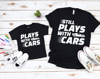 a485a3b8 Daddy and Me Shirts Matching Dad Shirts Father Son Shirts Fathers Day Shirts  Dad Fishing Shirt Father Son Plays with Cars