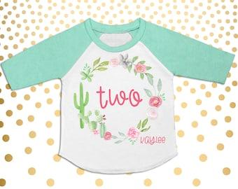 31a0ed5c Girls 2nd Birthday Shirt Toddler Girl's Second Birthday Raglan Two Shirt  Two Raglan Boho 2nd Birthday Party Shirt