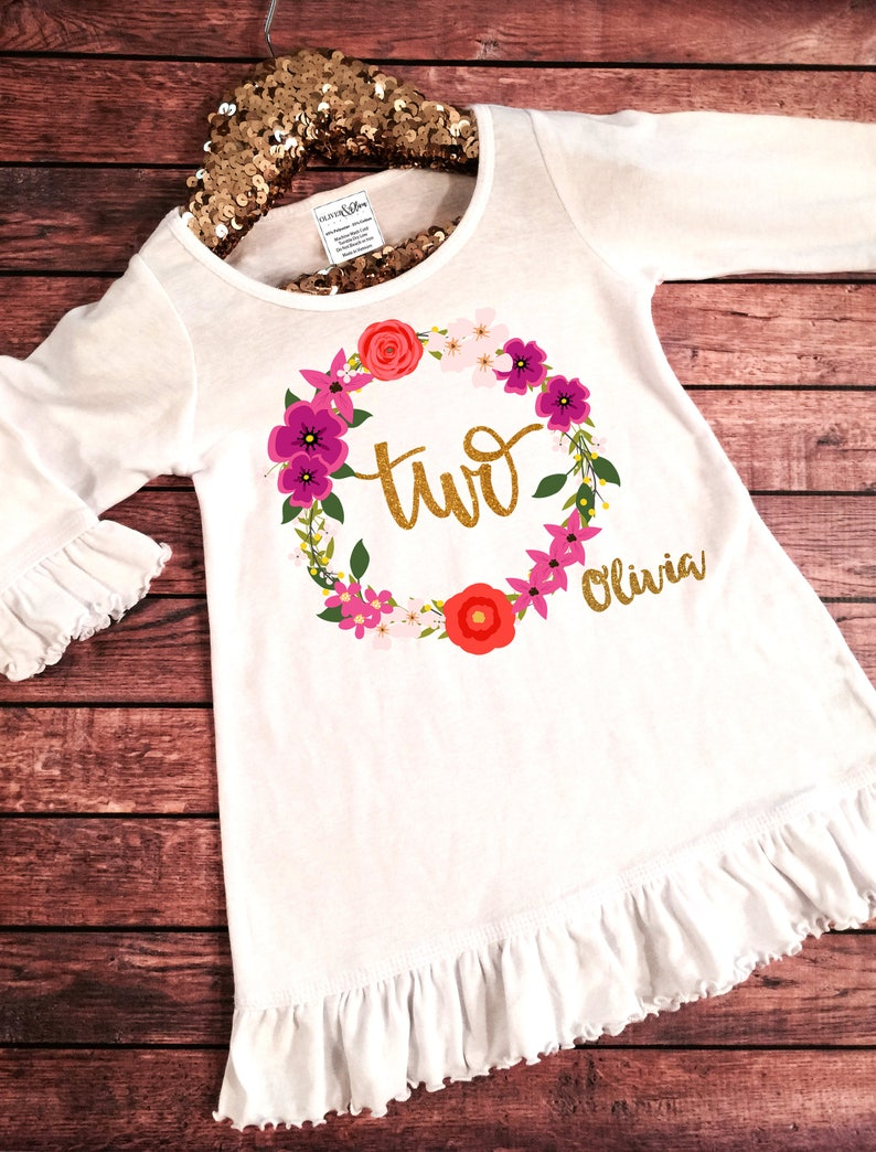 bcbcce4d6 Second Birthday Outfit Toddler Girl Clothes Girl's 2nd   Etsy