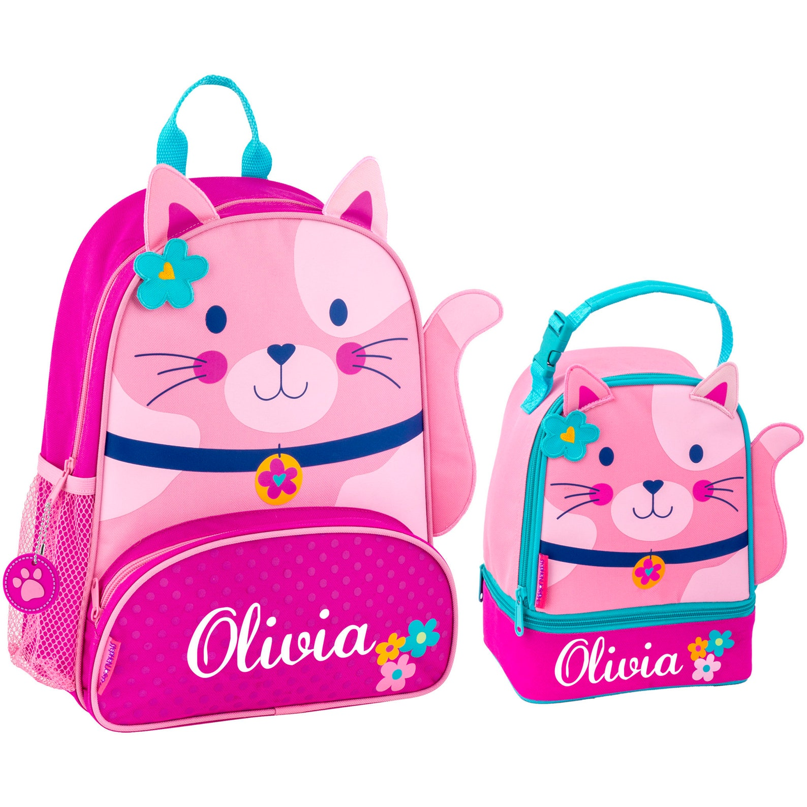 Kids Personalized Cat Backpack and Lunchbox
