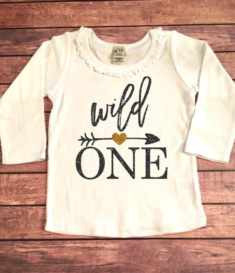 5cf164d3 Wild One Gold Sparkle Birthday Long Sleeve Ruffle Shirt, Birthday Shirt,  Baby lo... Wild One Gold Sparkle Birthday Long Sleeve Ruffle Shirt, Birthday  Shirt, ...