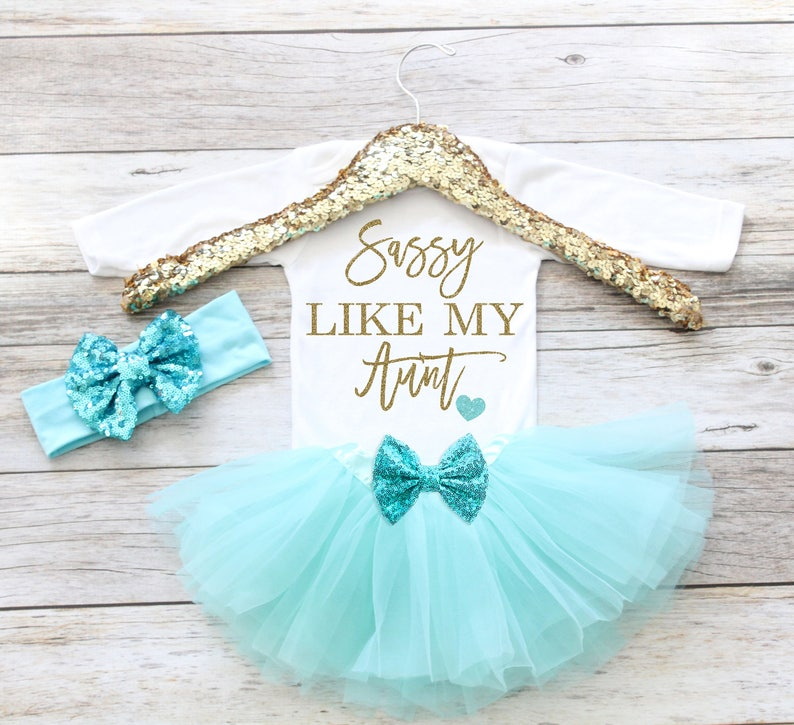 Baby Girl Clothes Sassy Like My Aunt Newborn Coming Home image 0