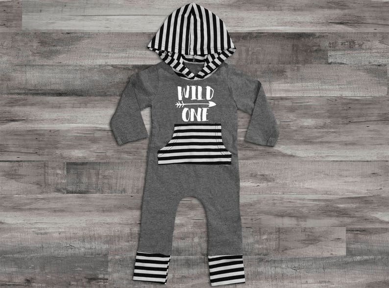 5abeff785 Baby Boy Clothes Wild One Birthday Boy Outfit Wild One Romper | Etsy