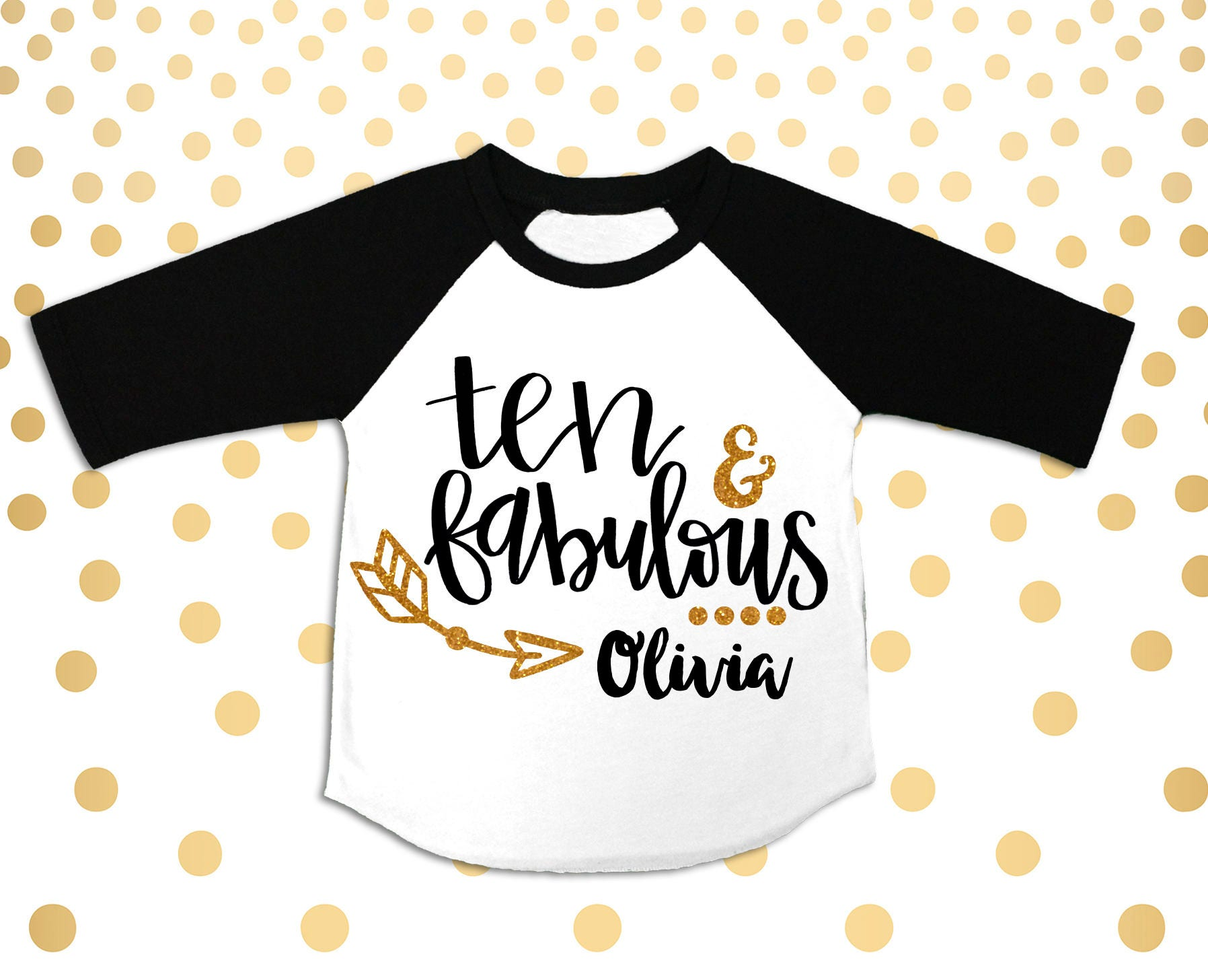 Girls 10th Birthday Outfit Ten Shirt Nine 10 Year