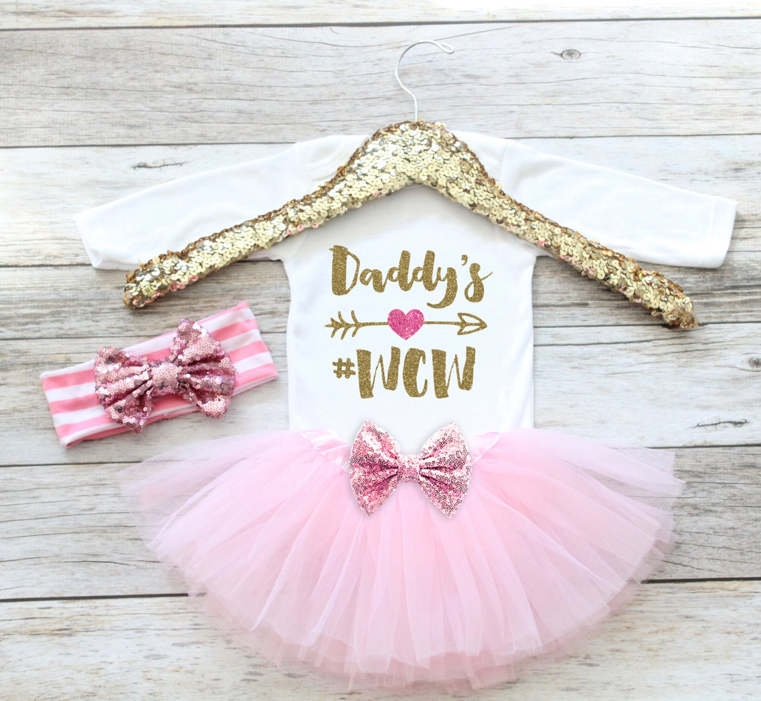 332b1e1b7 Daddy's #WCW, Newborn Coming Home Outfit, Hospital Outfit, Newborn Baby  Gift, Baby shower gift, set,Baby Girl , Daddy's girl
