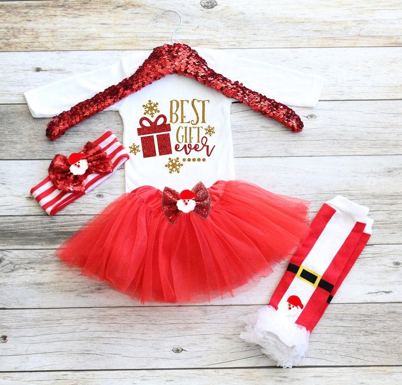 8101527c57a4d Bébé fille Noël Tutu tenue de Noël bébé fille bébé fille