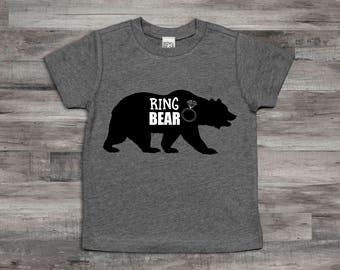 Ring Bear Shirt,Ring Bearer T-Shirt,Ring Bearer monogram name shirt,Ring Bearer gift, Ring Bearer shirt, rehearsal dinner shirt