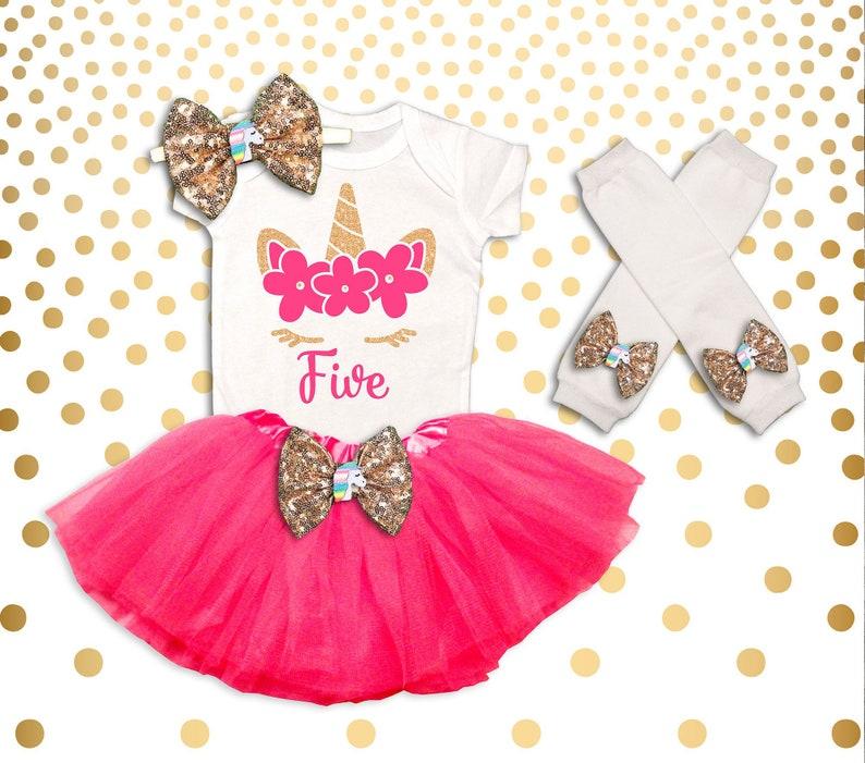 Einhorn 5 Geburtstag Outfit Mädchen Einhorn Geburtstag Shirt Etsy