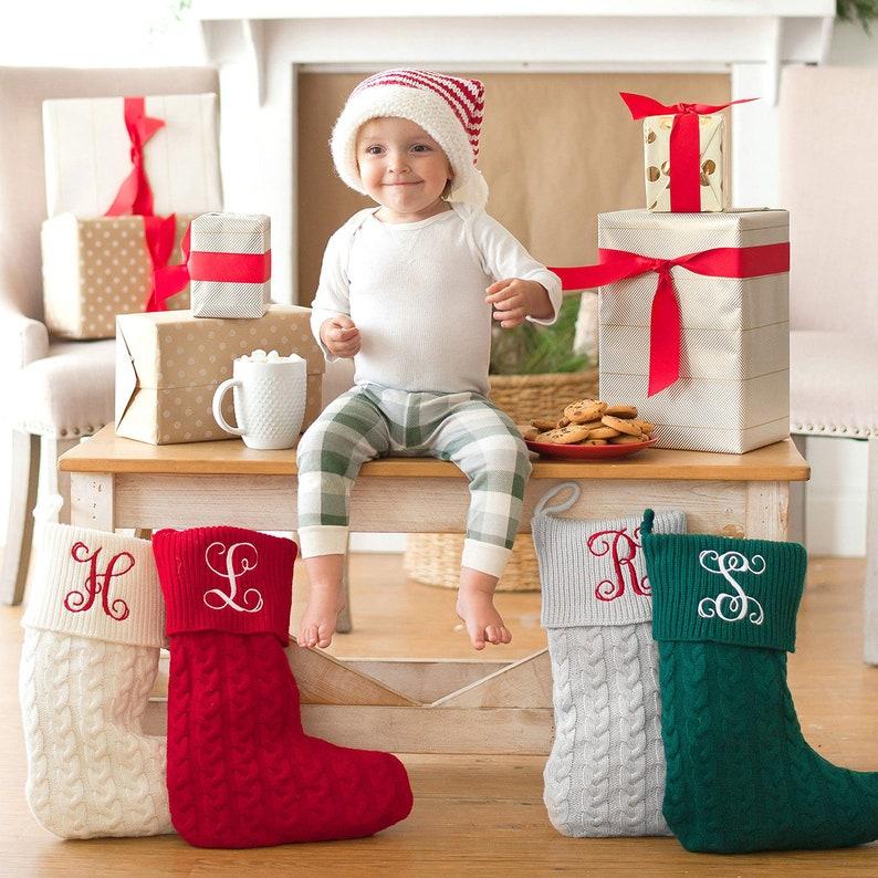 绣花圣诞袜编织圣诞袜图片1