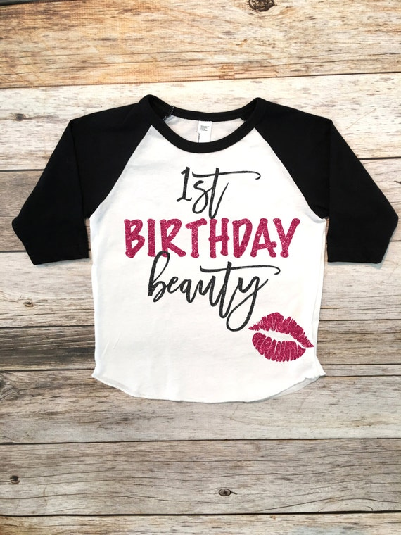 1e Verjaardag Schoonheid Shirt Eerste Verjaardag Shirt Smash Etsy
