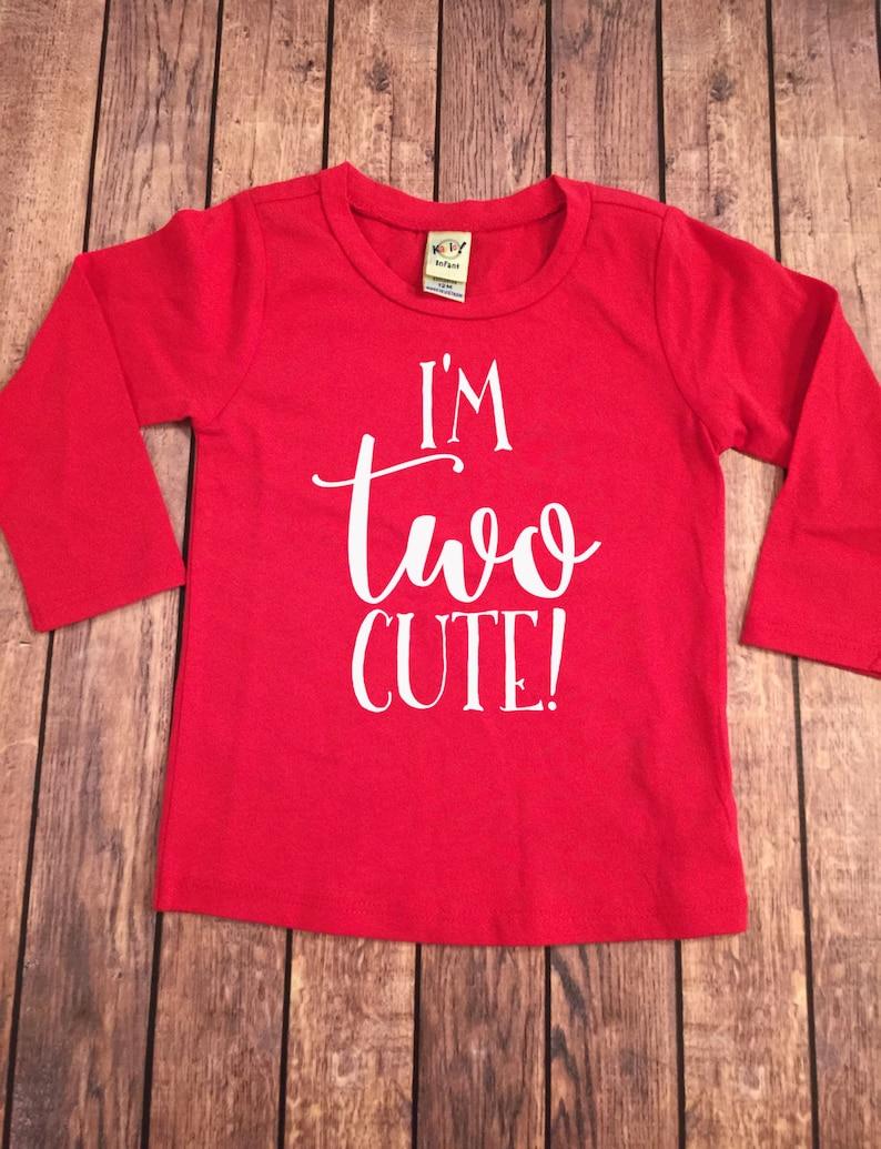 I/'m TWO Cute Shirt Second Birthday Long Sleeve Shirt Birthday Shirt Baby Girl 2nd Birthday Shirt Girl Second Birthday Shirt 2nd Birthday