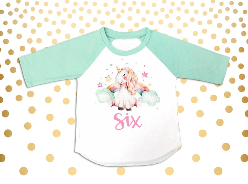 Unicorn 6th Birthday Girl/'s 6th Birthday Outfit Six Shirt Six Outfit 6 year old shirt 6th Birthday Party Outfit 6th Birthday Shirt 6th Bday