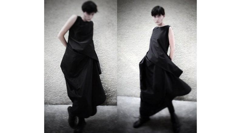 e3faf83029 Extravagant draped maxi dress black parachute dress