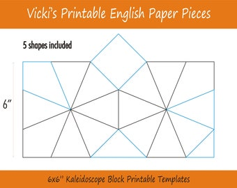 1 Printable Plus Shaped Pieces For English Paper Piecing Etsy