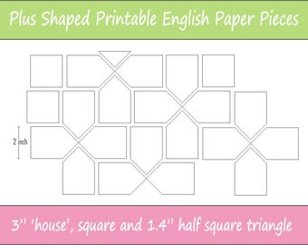 image regarding Free Printable English Paper Piecing Templates known as 5 Printable Kaleidoscope Block Components for English Paper Etsy