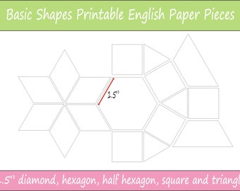 15 Printable Basic Shapes For English Paper Piecing