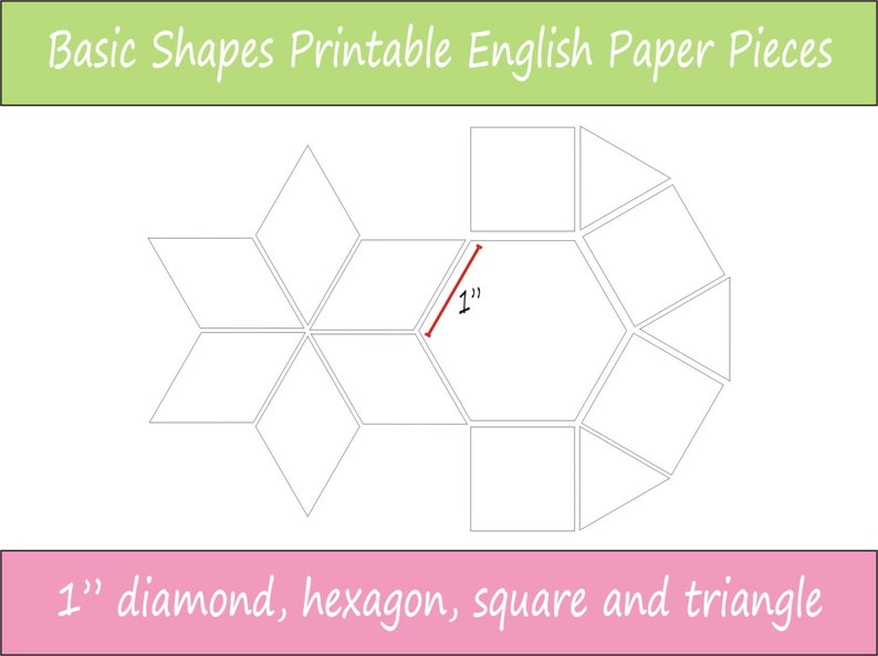 graphic regarding Free Printable English Paper Piecing Templates named 1\