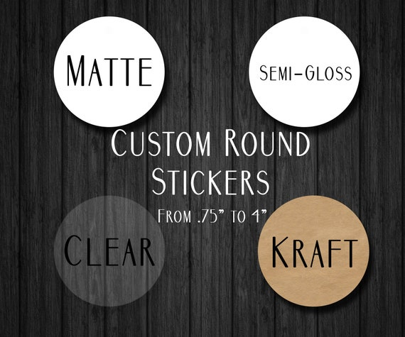 Custom round stickers custom labels round labels custom