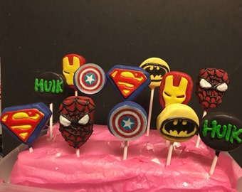12 superhero cake pops