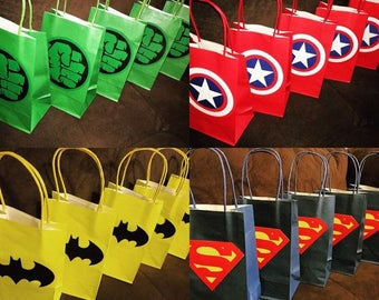 12 superhero party bags