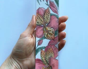 Bookmark alstroemeria flowers