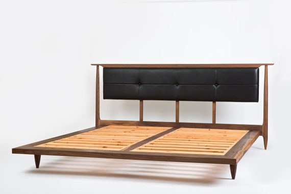 Mid Century Modern Platform Bed Storage Bed Optional Bed Etsy
